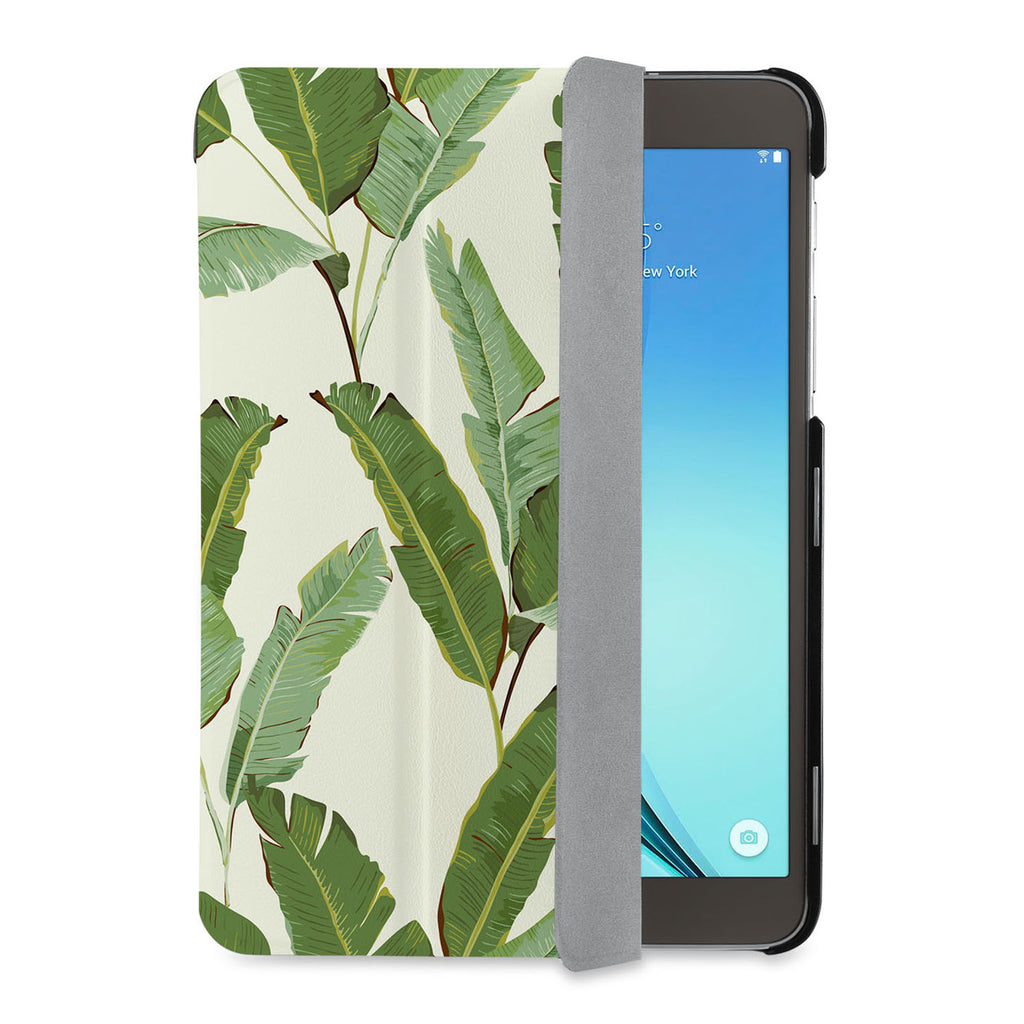 auto on off function of Personalized Samsung Galaxy Tab Case with Green Leaves design - swap