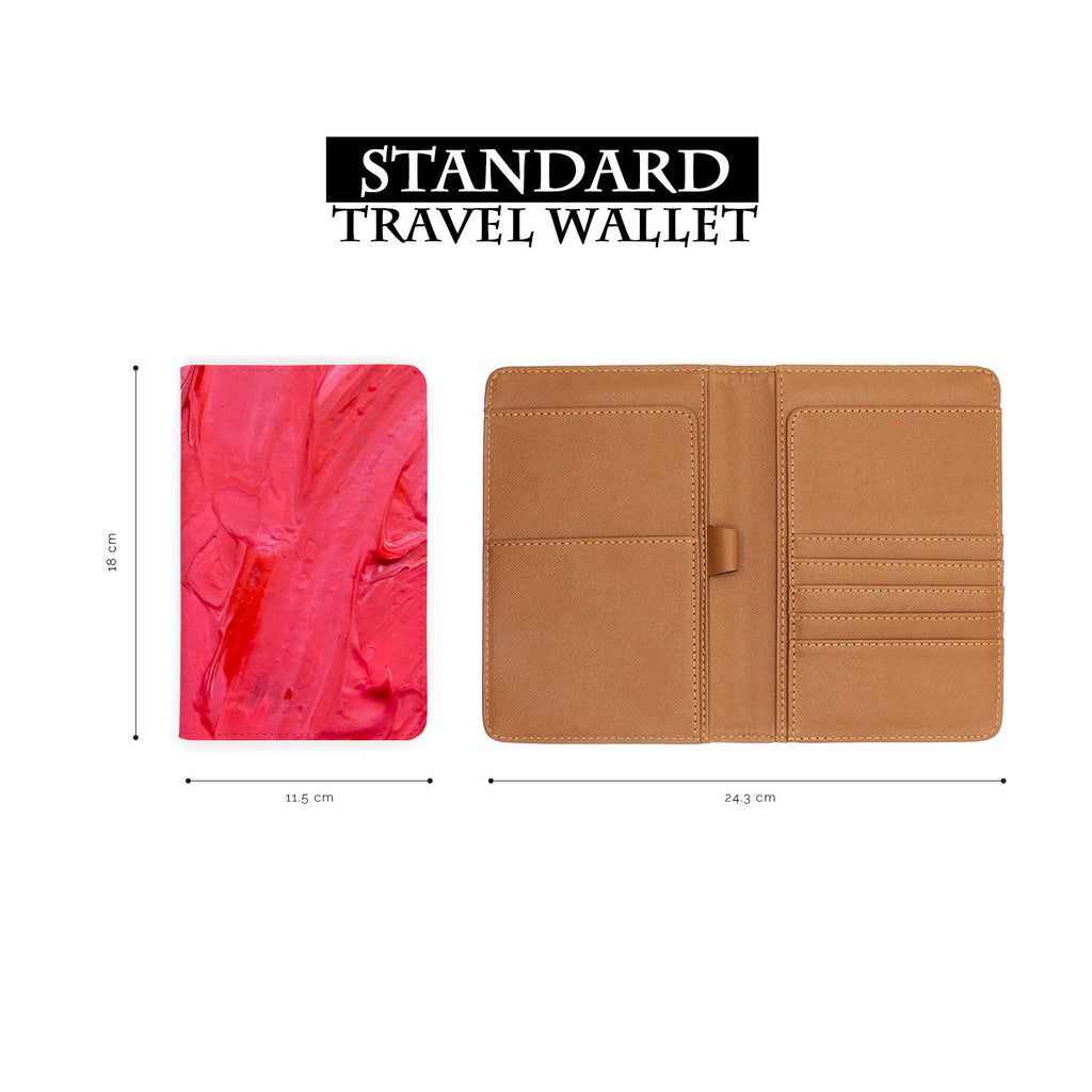Travel Wallet - Abstract Red