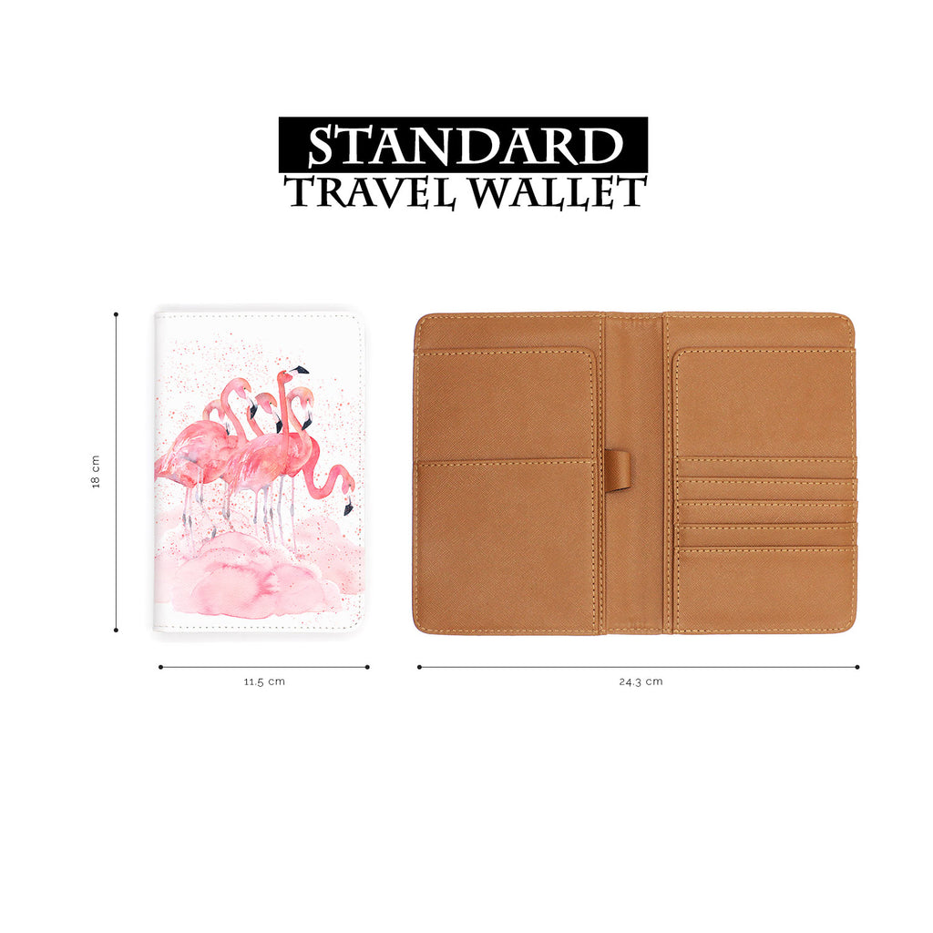 Travel Wallet - Flamingo Mating Dance