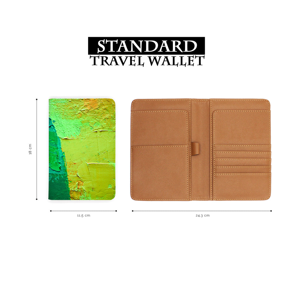 Travel Wallet - Abstract green