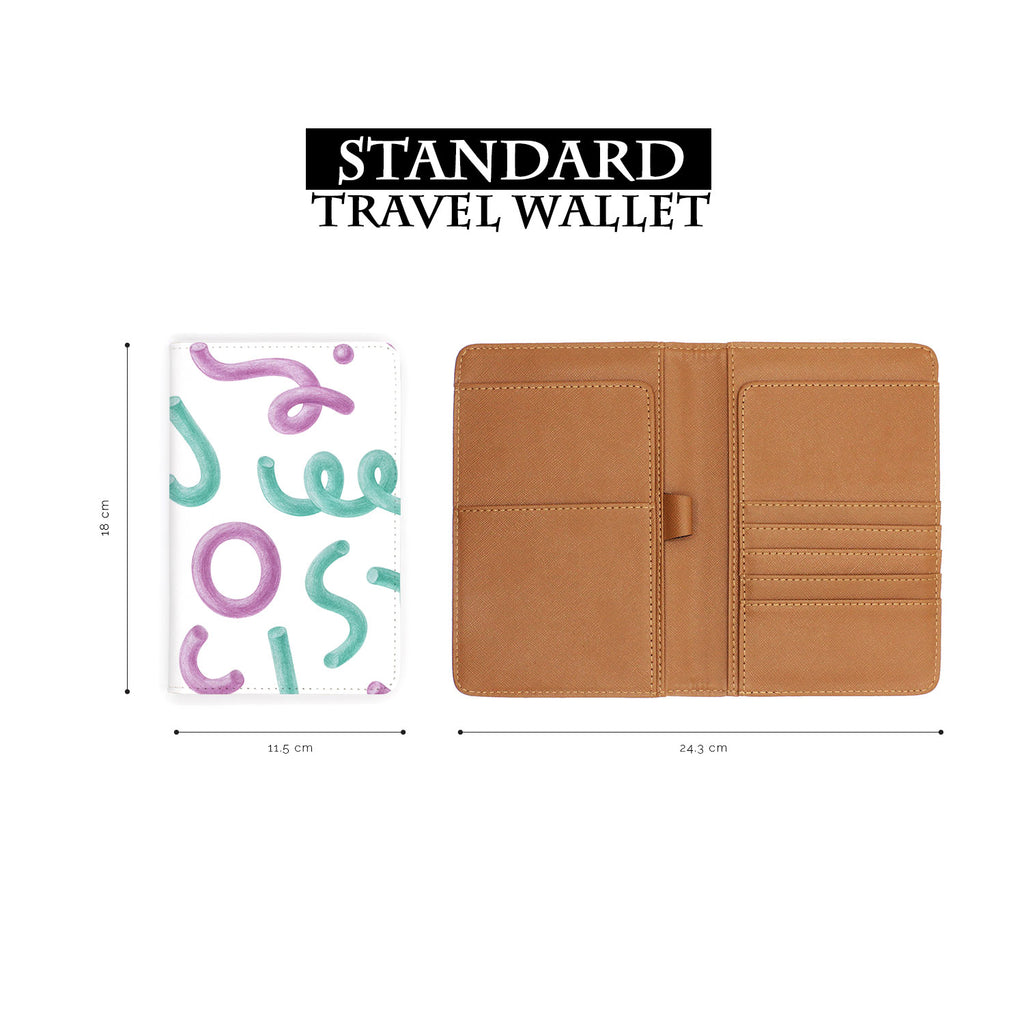 Travel Wallet - Abstract tubes