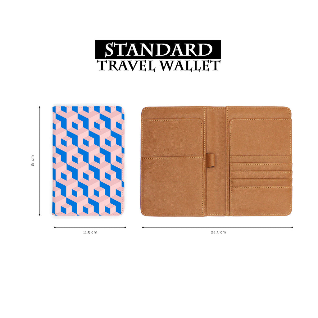 standard size of personalized RFID blocking passport travel wallet with 3D Patterns design