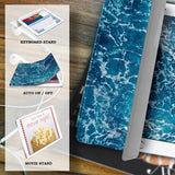 personalized iPad case smart cover with ocean waves design with auto on off sleep wakeup feature
