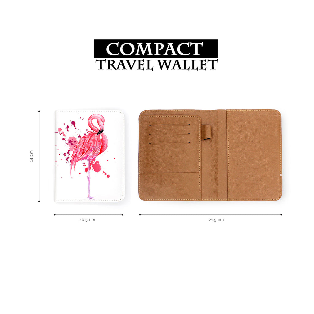 Travel Wallet - Flamingo Watercolor