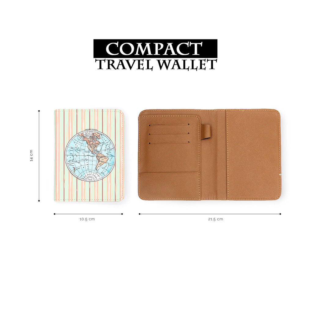 compact size of personalized RFID blocking passport travel wallet with adventure awaits design