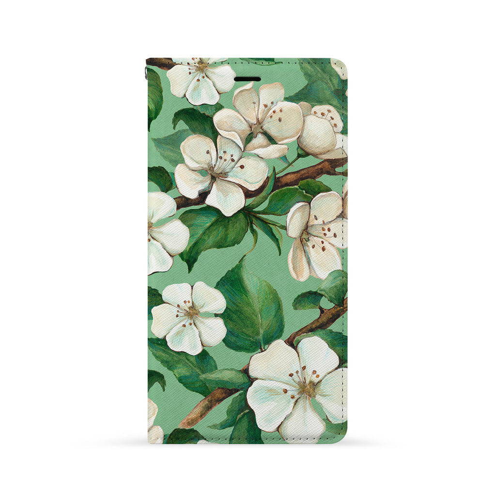 Front Side of Personalized iPhone Wallet Case with Flower design