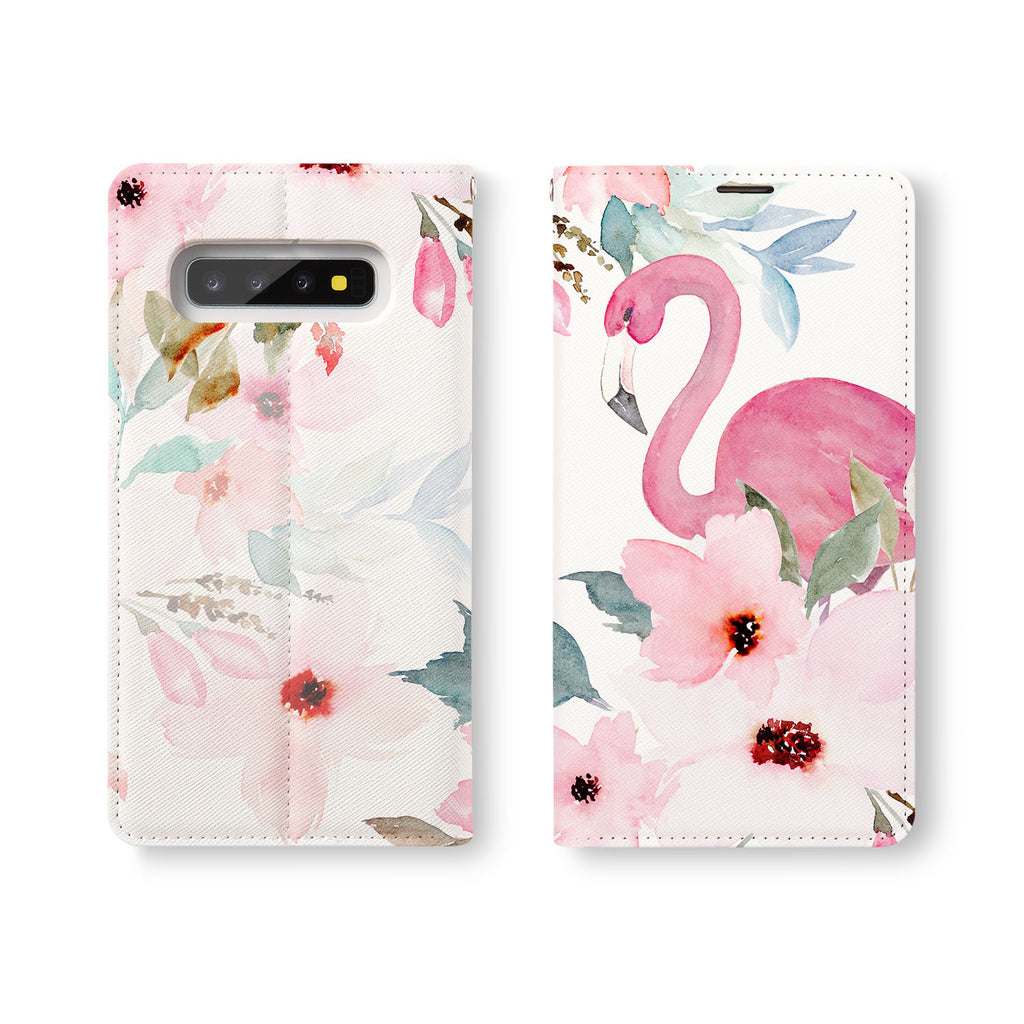 Personalized Samsung Galaxy Wallet Case with Flamingos desig marries a wallet with an Samsung case, combining two of your must-have items into one brilliant design Wallet Case.
