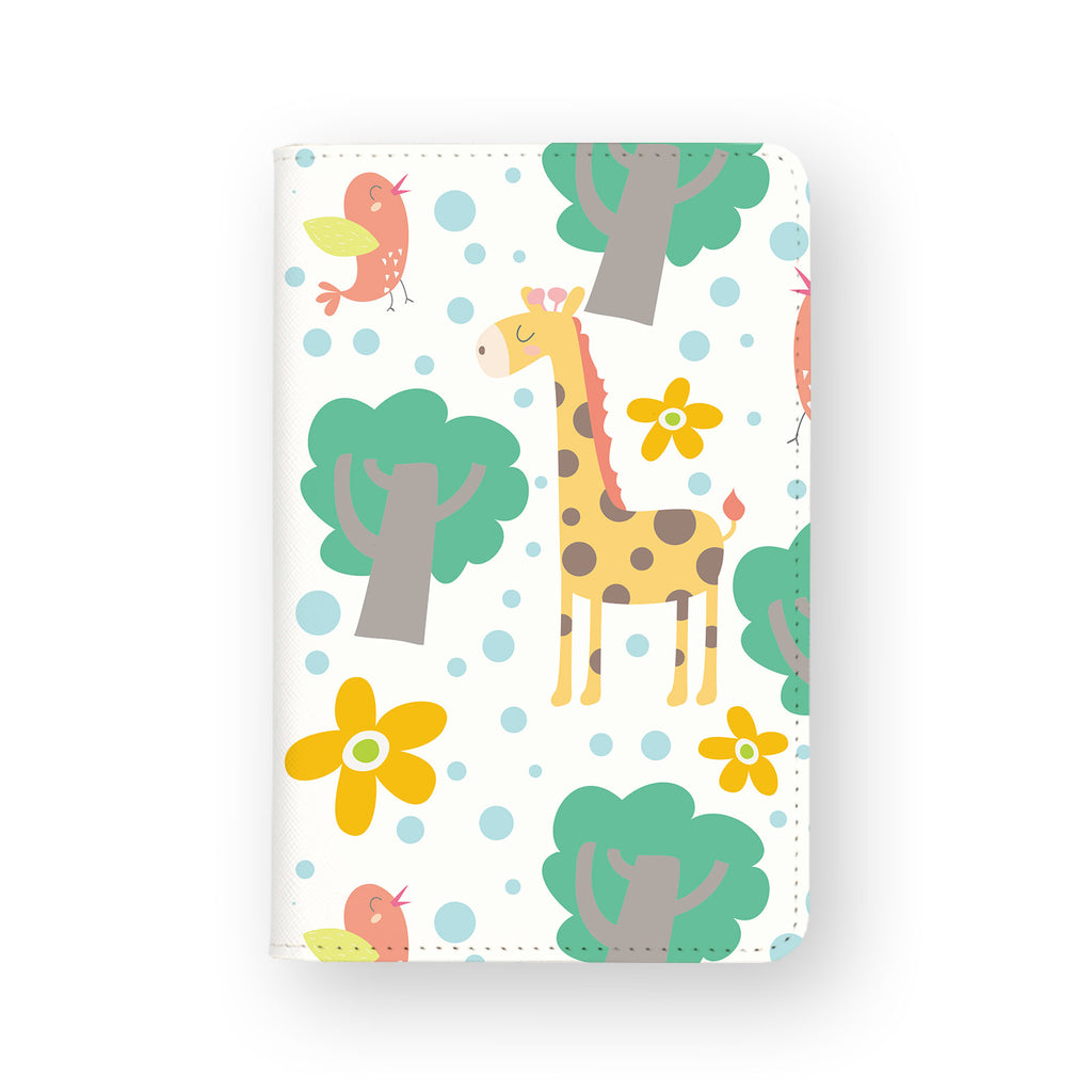 front view of personalized RFID blocking passport travel wallet with Animals Collection design