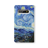Back Side of Personalized Samsung Galaxy Wallet Case with OilPainting design - swap