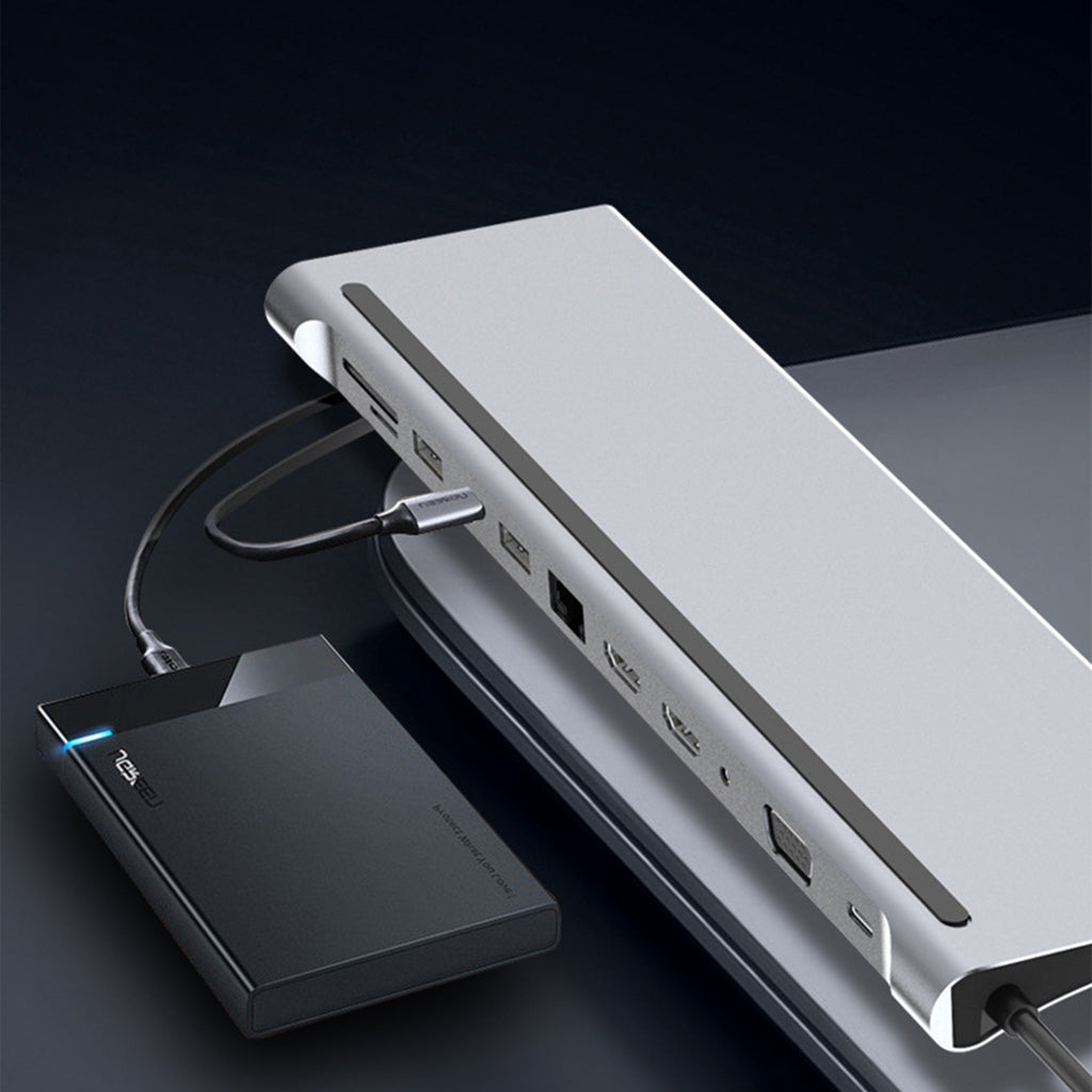 12-in-1 USB-C Hub Docking Station for Macbook