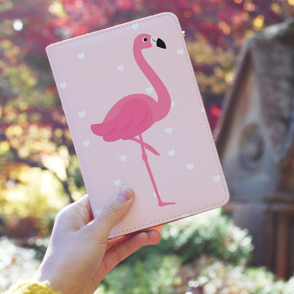 Travel Wallet - Flamingo With Heart