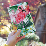 Travel Wallet - Flamingo With Tropical Palm Tree