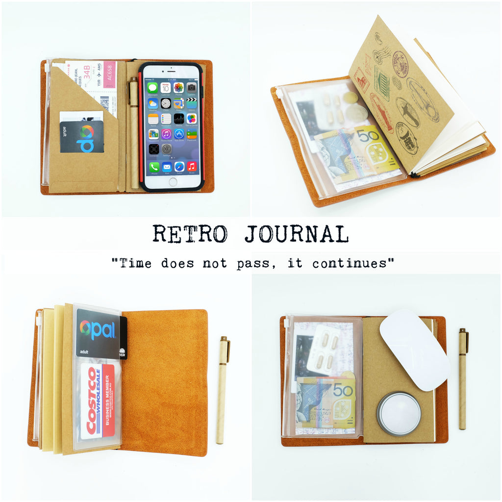 how to use genuine leather midori style traveler's notebook ombre pastel galaxy design