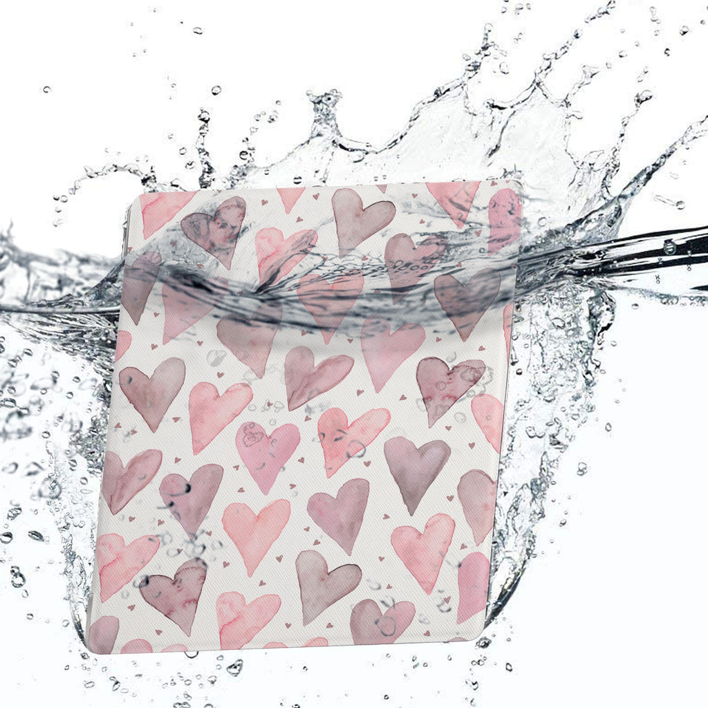 Water-safe fabric cover complements your Kindle Oasis Case with Love design