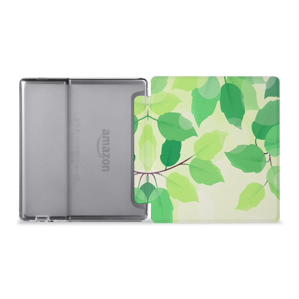 The whole view of Personalized Kindle Oasis Case with Leaves design