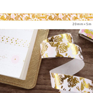 Washi Tape - Gold Garden