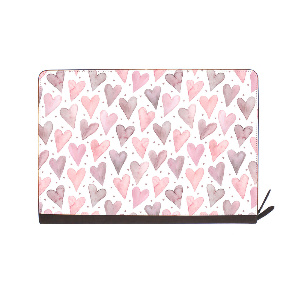 front view of personalized Macbook carry bag case with Love design
