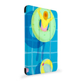 the side view of Personalized Samsung Galaxy Tab Case with Beach design