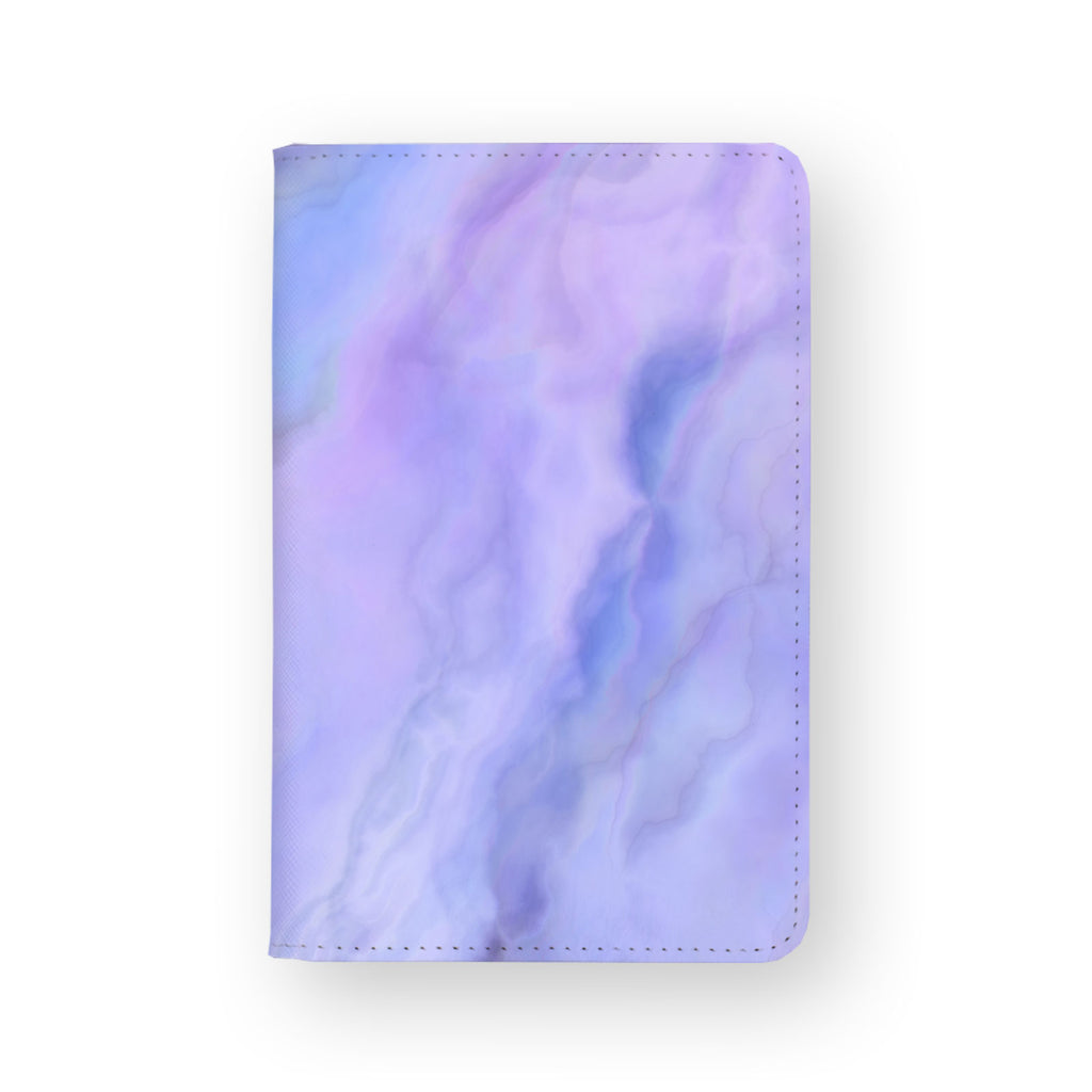 front view of personalized RFID blocking passport travel wallet with Abstract Art design
