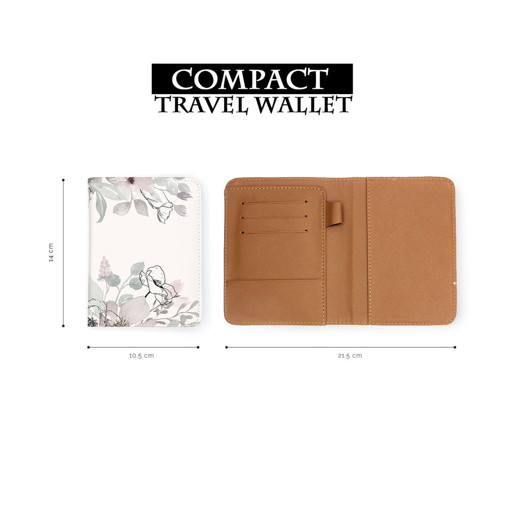 compact size of personalized RFID blocking passport travel wallet with Blooming Spring design
