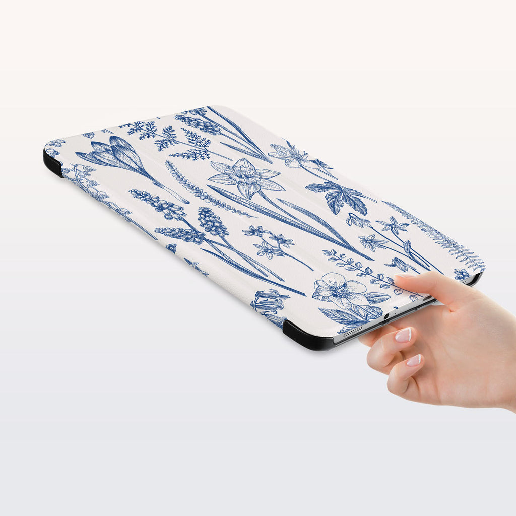 a hand is holding the Personalized Samsung Galaxy Tab Case with Flower design