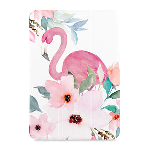the front view of Personalized Samsung Galaxy Tab Case with Flamingo design