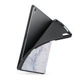 soft tpu back case with personalized iPad case with Marble design
