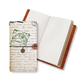 opened midori style traveler's notebook with Travel design