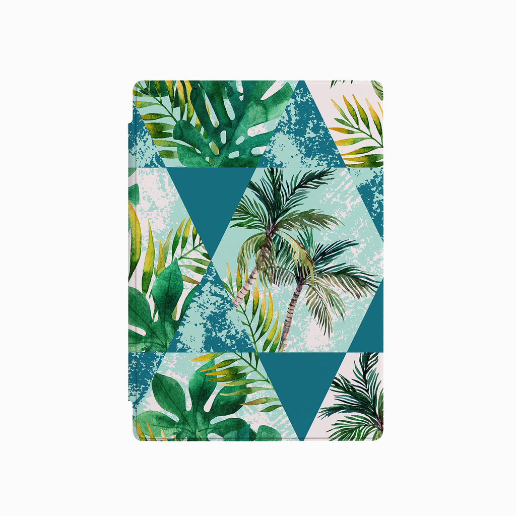 the front side of Personalized Microsoft Surface Pro and Go Case with Tropical Leaves design