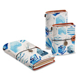 three size of midori style traveler's notebooks with Geometric Flower design