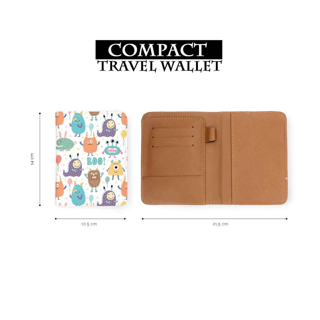 compact size of personalized RFID blocking passport travel wallet with Boo design