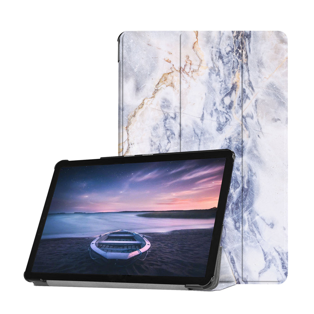 Personalized Samsung Galaxy Tab Case with Marble design provides screen protection during transit