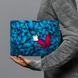 hardshell case with Butterfly design combines a sleek hardshell design with vibrant colors for stylish protection against scratches, dents, and bumps for your Macbook