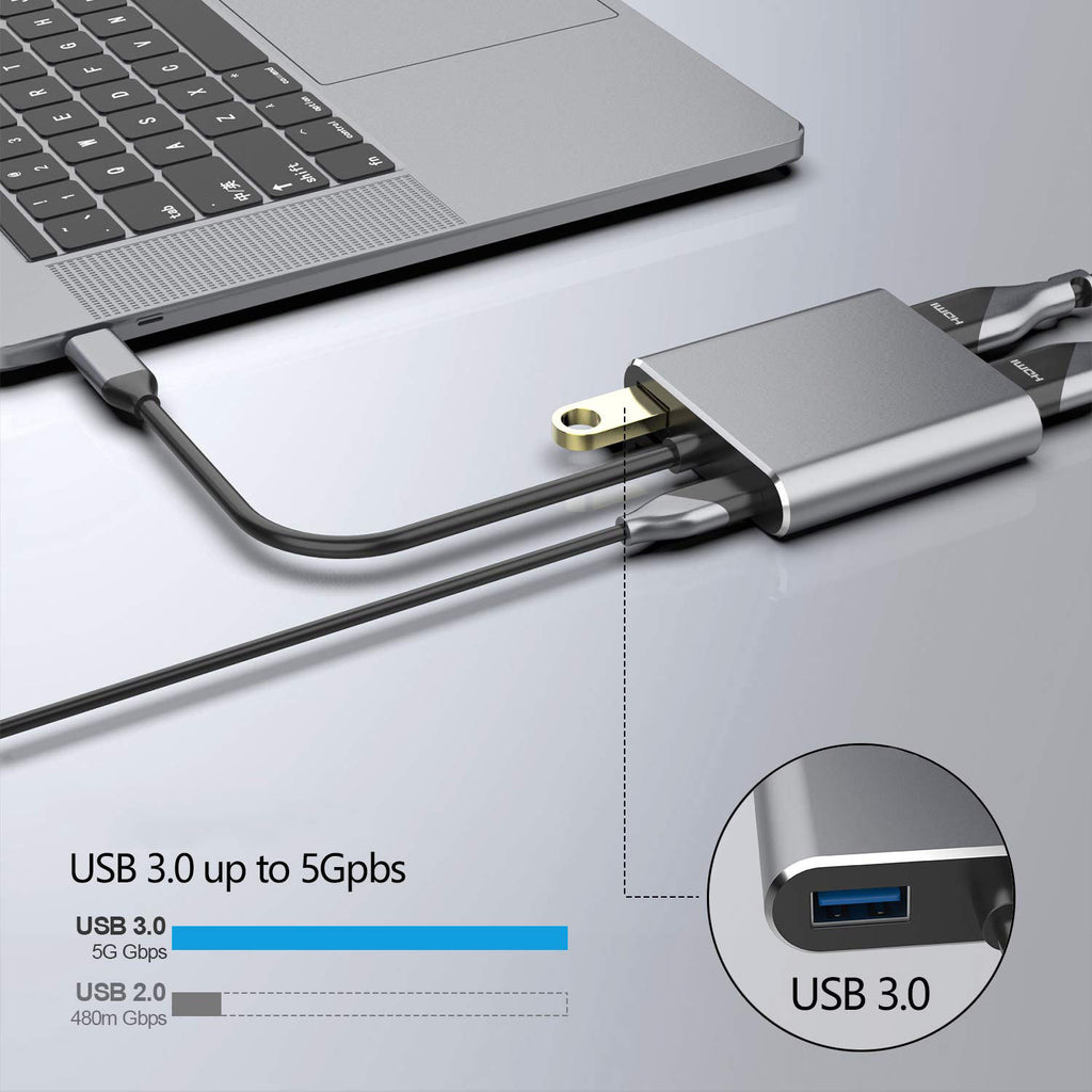 USB-C to HDMI and VGA Adapter
