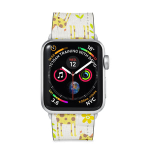 Our Printed Leather Apple Watch Band with Animals design are made of water- and scratch-resistant saffiano leather because we know you wear your apple watch every, single, day. - swap