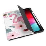 personalized iPad case with pencil holder and Flamingo design - swap