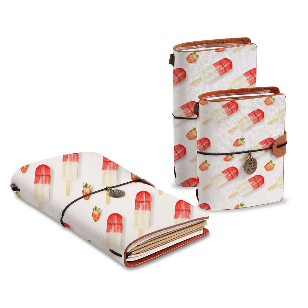 three size of midori style traveler's notebooks with Sweet design