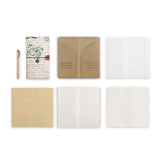 midori style traveler's notebook with Travel design, refills and accessories