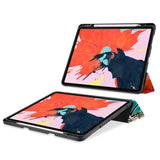 movie and keyboard stand view of personalized iPad case with pencil holder and Ukiyoe design