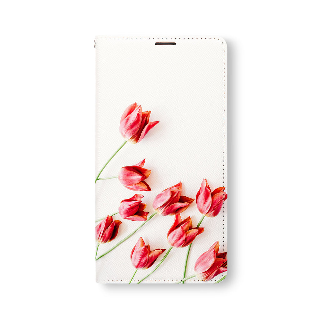 Front Side of Personalized Samsung Galaxy Wallet Case with FlatFlower design