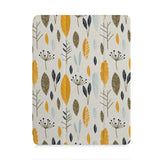 front view of personalized iPad case with pencil holder and Mediterranean design