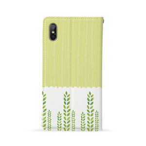 Back Side of Personalized Huawei Wallet Case with Cutest Forest Friends design - swap