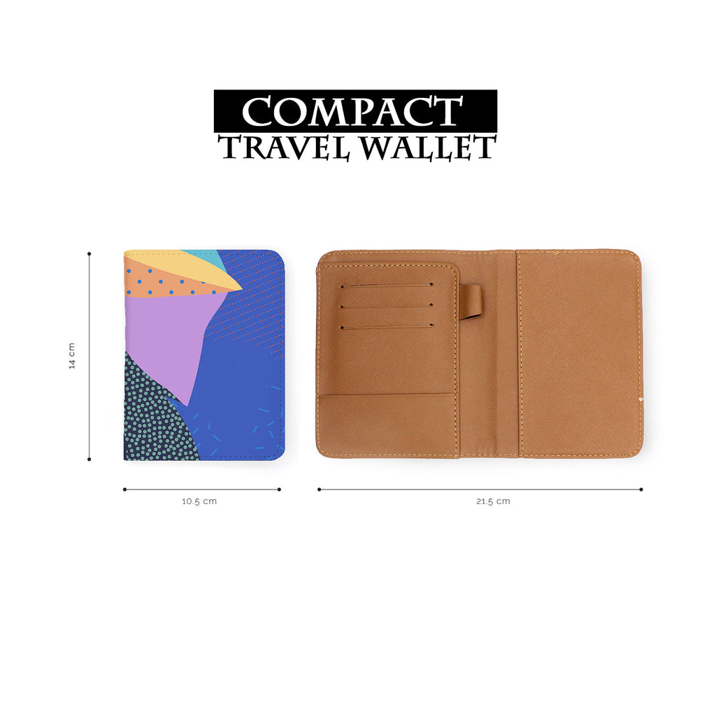 compact size of personalized RFID blocking passport travel wallet with Blossom design