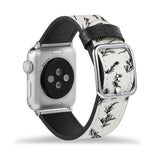 Printed Leather Apple Watch Band with Tiles design Like all Apple Watch bands, you can match this band with any Apple Watch case of the same size