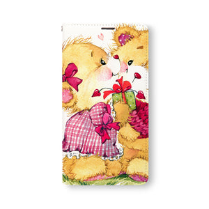 Front Side of Personalized Samsung Galaxy Wallet Case with CuteBear design