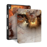 front and back view of personalized iPad case with pencil holder and Nature Beauty design