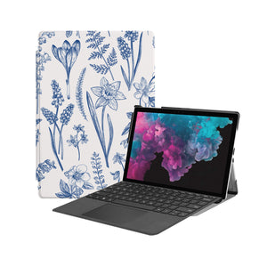 the Hero Image of Personalized Microsoft Surface Pro and Go Case with Flower design
