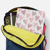 iPad SeeThru Casd with Love Design has Secure closure
