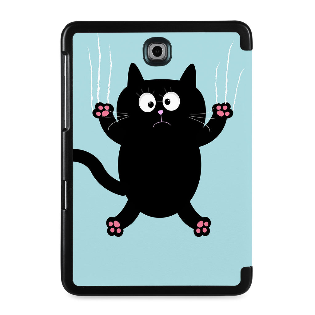 the back view of Personalized Samsung Galaxy Tab Case with Cat Kitty design