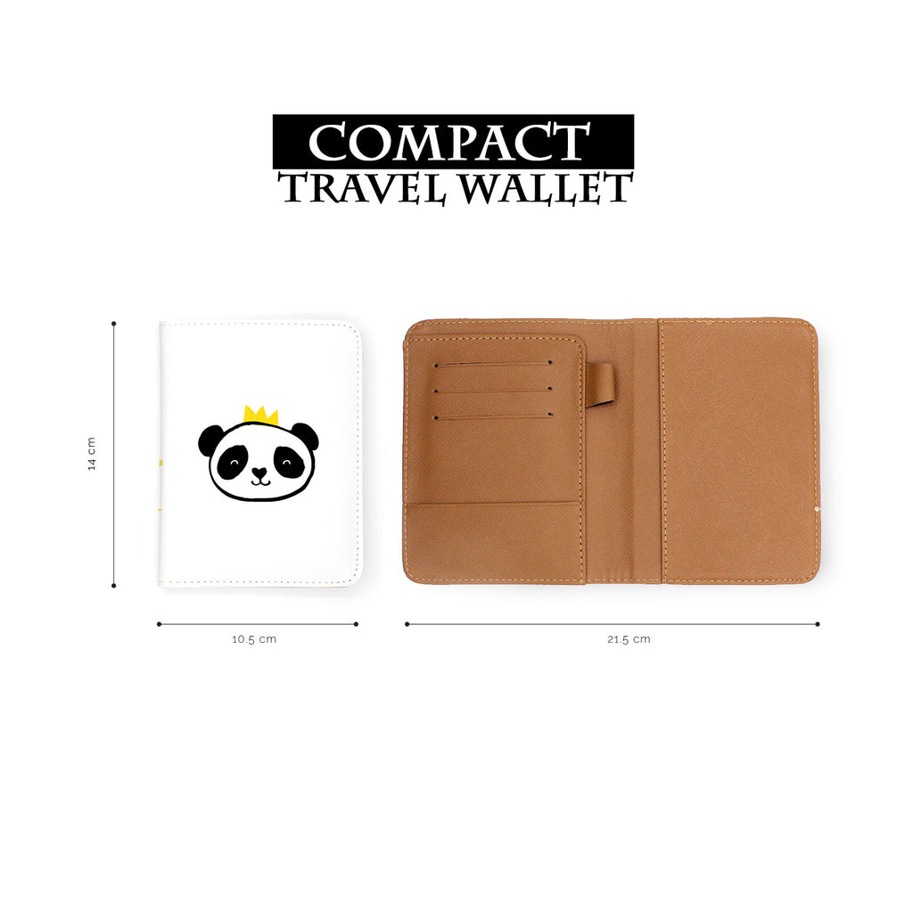 compact size of personalized RFID blocking passport travel wallet with Doodle design